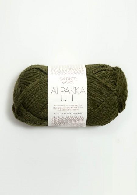 alpakka ull 9573 mosegrønn Alpaka Wolle Sandnes Garn Sandnesgarn Norwegen stricken moos grün loden pinie khaki