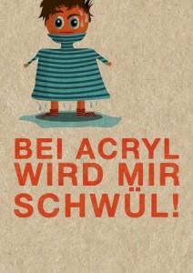 Diese Postkarte von Strickimicki hab ich mir auf der H&H direkt gekauft.