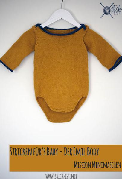 stricken für's baby emils body stichfest blog minimaschen mission envelope ausschnitt overlap